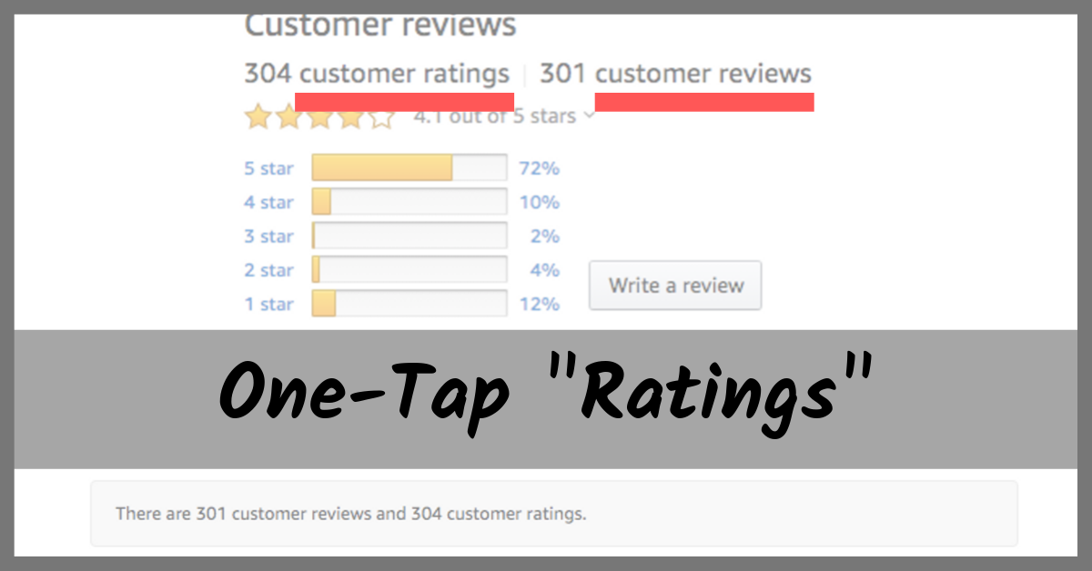 Amazon One-Tap _Ratings_