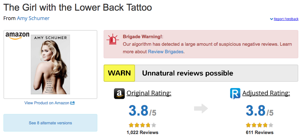 A closer look at megyn kelly s deleted book reviews reveal for The girl with the lower back tattoo review