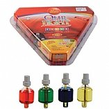 Medium Size Hanukkah Colored Ohr Lights Pre-Filled Oil Candles 44 per pk. Burns Aprox. 2 1/2 Hrs