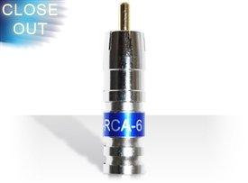 RCA Male Compression Connectors (Bag of 50) - Professional Grade - Fits Rg6