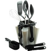 Farberware 18-Piece Kitchen Tool and Gadget Set with Rotating Carousel