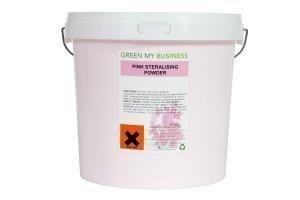 Pink Steralising Sanitising Powder in 10kg Tub