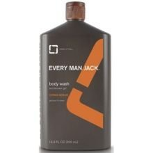 Every Man Jack Citrus Scrub Body Wash 16.9 Ounce