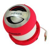 Axess SPLW11-6 Boombug Wired Mini Portable Speaker with Rechargeable Battery (Pink)