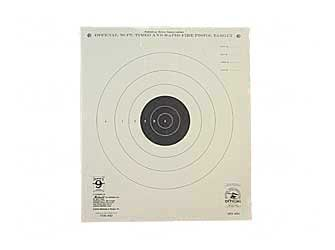 Hoppe's No. 9 Official Competition 50-Feet Timed Rapid Fire Pistol Target Paper (20 Pack)