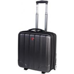 Swiss Gear 15.6-Inch Abs Laptop Rolling Business Case, Gray, International Carry-on