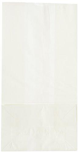 Duro Grocery Bag, White Paper, 4 lb Capacity, 5x 3-1/3 x 9-3/4 500 ct, ID# 51004