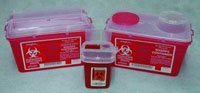 Kendall Sharps Container 1 Pint Red - Model 8901sa by Covidien-Kendall