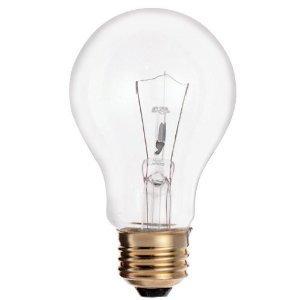 (48 Pack) 100A19/CL 100-Watt Standard Household A19 Medium Base Incandescent ...