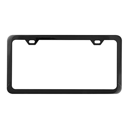 Grand General 60403 Black Semi-Gloss Powder Coated License Plate Frame with 2 Holes