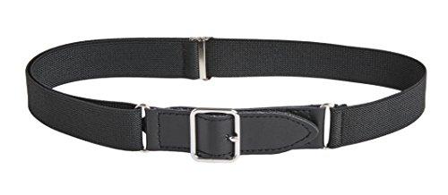 Sportoli™ Kids Elastic Adjustable Leather Front Stretch Belt with Velcro Closure
