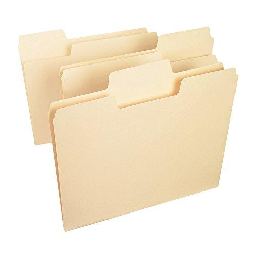 Smead SuperTab® File Folder, Oversized 1/3-Cut Tab, Letter Size, Manila, 100 Per Box (10301)