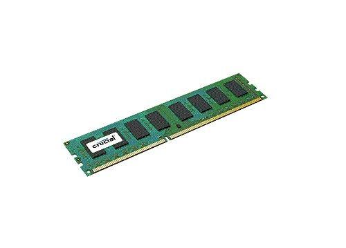Crucial 4GB Single DDR3 1600 MT/s PC3-12800 CL11 Unbuffered UDIMM 240-Pin Desktop Memory Module CT51264BA160B