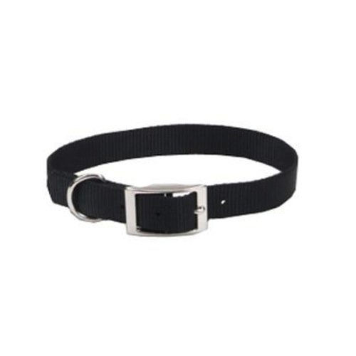 Coastal Pet 00301 B BLK12 Nylon Collar, 3/8 by 12-Inch, Black