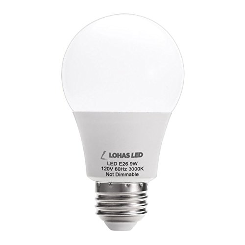 LOHAS A19 LED Bulbs, 9W LEDs 60 Watt Light Bulbs Replacement, Soft White 3000K LED Bulb, 240 Degree Beam Angle, Medium Screw Base (E26), LED Lights for Home Lighting
