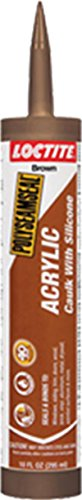 Loctite 1507596 Dark Brown Polyseamseal Acrylic Caulk with Silicone Tube, 10 oz