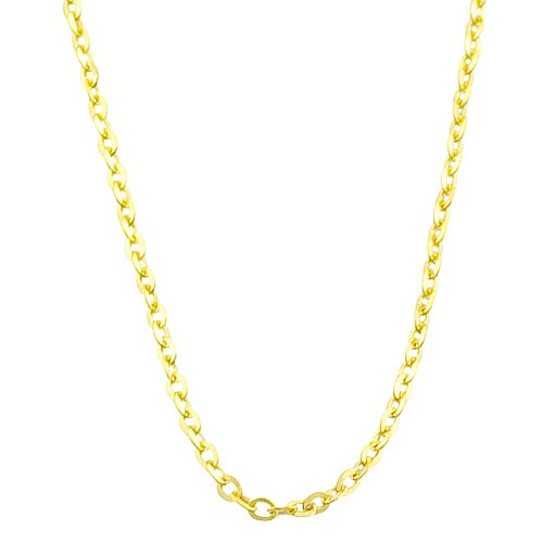 14k Yellow Gold 0.9-mm Flat Round Cable Chain (18 Inch)