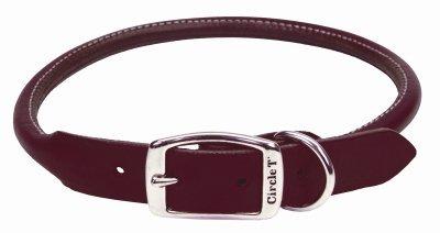 Coastal Pet Products Circle T Leather Round Dog Collar, 3/4 x 18, Latigo