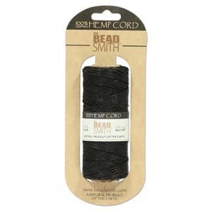 Hemp Twine Bead Cord 1mm 197 Feet BLACK