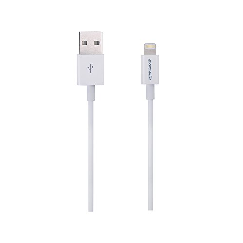 [Apple MFI Certified] Expower® Lightning to USB Cable 3.28ft (1M) with Ultra Compact Connector Head for iPhone 6 6Plus 5s 5c 5, iPad Air Air2 mini mini2 mini3, iPad 4th gen, iPod touch 5th gen, and iPod nano 7th gen