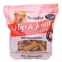 Hip and Joint Peanut Butter Flavor Wafers for Large Dogs Net Wt 6 LBS (2.7kg)