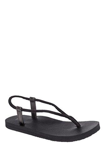 Sanuk Womens Yoga Sling Fling Sandal/Flip Flops/Slipper Footwear Size 10 Black/Pewter