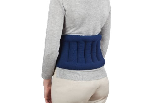 Sunny Bay Lower Back and Shoulder Joint Heat Wrap with Extra Long (72 Inches) Straps, 10x18 Heating Area, Reusable, Portable, Navy Blue