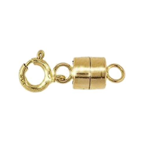 Magnetic Clasp 14k 4.4mm Gold Converter for Necklaces Closed Loops Strong Solid 14kt Tiny (Qty=1)