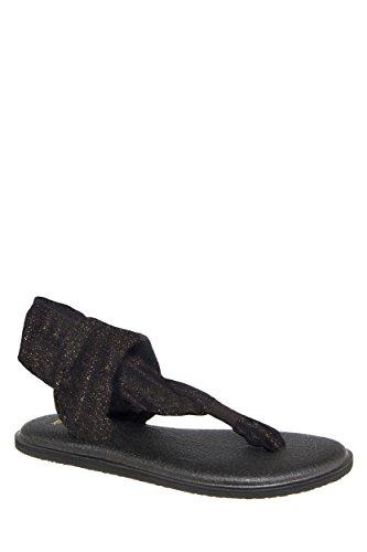 Sanuk Womens Yoga Sling 2 Metallic Sandal/Flip Flops/Slipper Footwear Size 07 Gold