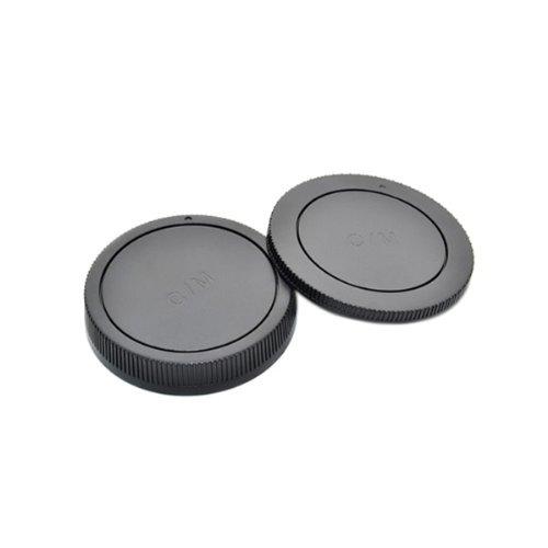 JJC Rear Lens + Camera Body Cap Cover for Canon EOS M & EF-M lenses