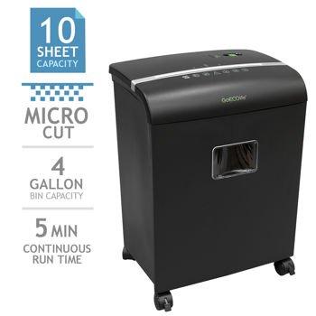 GoecolifeTM Limited Edition 10-sheet Micro-cut Shredder