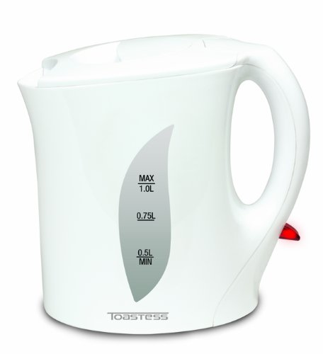 Toastess Electric Jug Kettle 1-Litre, White