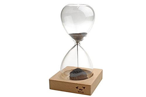 Excelity®Magnetic Sand Timer Glass Time Fun Gift Reversible Magnetic Sculptures Hourglass