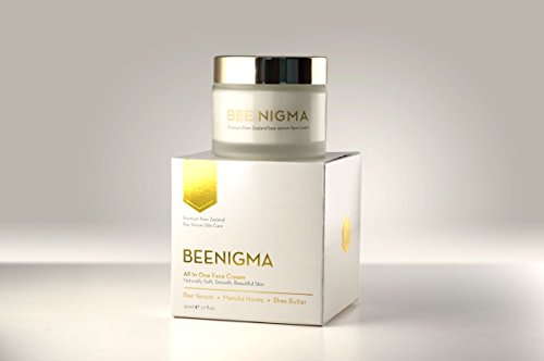 Beenigma Bee Venom Anti-Aging Cream from New Zealand with Medicinal Quality Manuka Honey