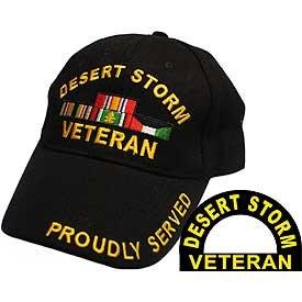 Desert Storm Veteran Hat Black