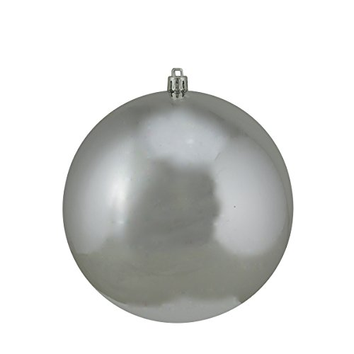 Shiny Silver Splendor Commercial Shatterproof Christmas Ball Ornament 6 (150mm)