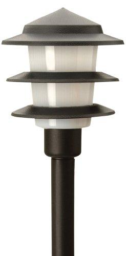 Moonrays 95556 1-Watt LED Plastic Tier Landscape Light Fixture, Low Voltage, Black