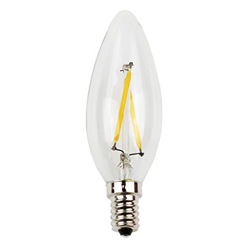 LIGHTSTORY B10 LED Filament Bulb - LED Candelabra, E12 Base, 2700K, Non-dimmable