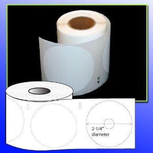BPA FREE OfficeSmartLabels 2-1/4 Diameter CD/DVD Labels (160 labels) Dymo 30854 Compatible