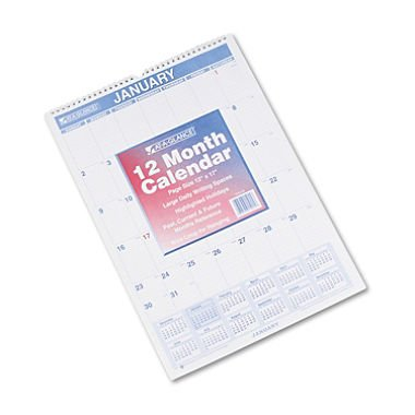 AT-A-GLANCE Monthly Wall Calendar 2015, Wirebound, 12 x 17 Inch Page Size (PM2-28)