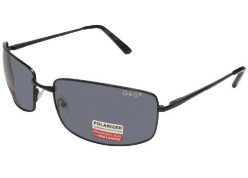 G&G 8 Polarized 160mm Extra Wide Sunglasses Big Head (Black Frame Grey Lens)