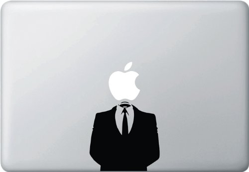 Anonymous Suit - (Variable Sizing Available) Macbook Vinyl Decal Sticker