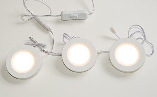 Surpahs Set of 3 Warm Light LED Under Cabinet Lighting Kit