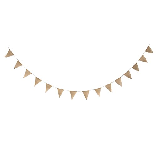 TINKSKY Vintage Bunting Banner Birthday Wedding Banners Party Supplies