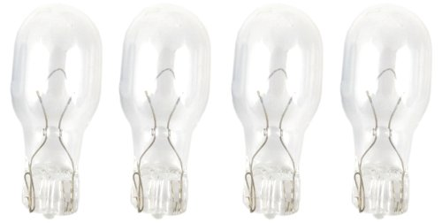 Moonrays 95503 4-Watt Wedge Base Light Bulbs, 4 Pack (Clear)