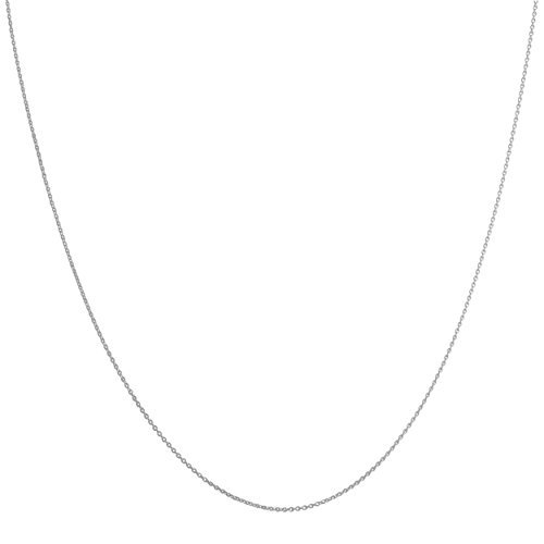 Solid 14k Gold 0.8mm Flat Round Cable Chain (16, 18, 20, 22, 24 or 30 inch in yellow or white gold)