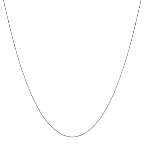 10k White Gold 0.55mm Venetian Box Chain (14, 16, 18, 20, 22, 24, 30 or 36 inch)