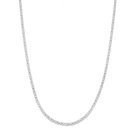 Sterling Silver 1.8-mm Byzantine Chain (22 Inch)