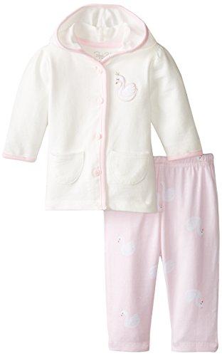 Rene Rofe Baby Baby-Girls Newborn 2 Piece Hooded Cardigan and Legging Set