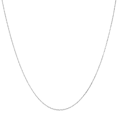 10k White Gold 0.7mm Dainty Rope Chain (20 inch)